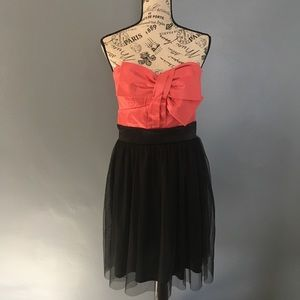 Retro pink and black cocktail dress, large